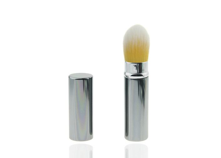 Nylon Yellow Hair Retractable Makeup Brush For Daily Need Cosmetic Product