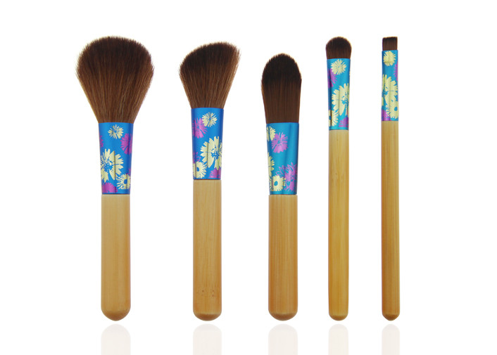 Mini Cosmetic Travel Makeup Brush Set / Synthetic Hair Makeup Brushes