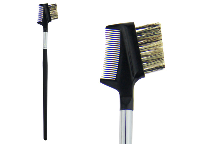 Black Synthetic Hair Eyebrow Comb Brush Professional Makeup Brush Kits